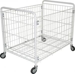CA1584 Plastic folding basket on wheels 100x60x87h