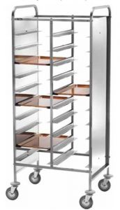 CA1470PII Stainless steel Tray-holder trolley for 30 trays Stainless steel Side panels