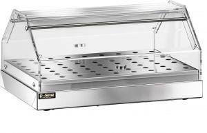 VBN4781 Stainless steel neutral display-case 1 shelf 85x35x25h