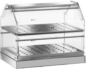 VBN4752 Neutral display-case  2 shelves 50x35x36h