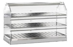 VBN4783 Neutral display-case 3 shelves 85x35x50h