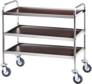 CA 1050W Service trolley Wengé 3 shelves 83x57x97h