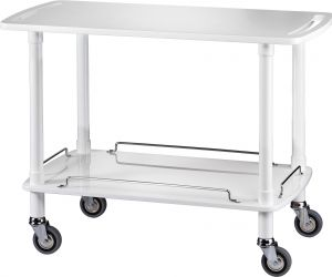 CLP 2002B Wodden service trolley Lacquered white 2 shelves 110x55x82h
