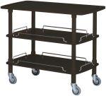 TCLP 2003N Carrito de madera negro 3 estantes 110x55x89h