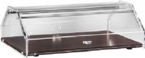 VL4749W Vitrine présentoir neutre pour brioches bois Couvercle en plexiglas 85x35x21h