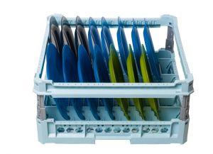 GEN-100115p Panier spécial pour 15 assiettes plates et assiettes creuses avec cadre de protection