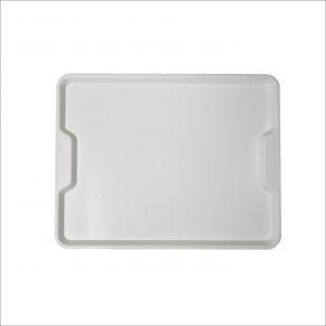 GEN-100703 Plateau en polypropylène - Collection ergonomique - Cantine - Dimensions extérieures 45,6x35,6 cm