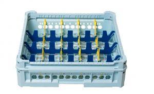 GEN-K14x5 PANIER CLASSIQUE 20 COMPARTIMENTS RECTANGULAIRES - Hauteur verre 65mm