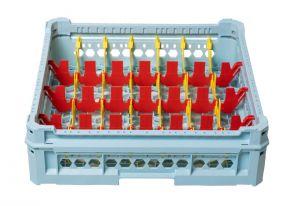 GEN-K14x7 CLASSIC BASKET 28 RECTANGULAR COMPARTMENTS - Glass height 65mm
