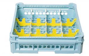 PANIER GEN-K23x4 CLASSIQUE 12 COMPARTIMENTS RECTANGULAIRES - HAUTEUR EN VERRE de 65 mm à 120 mm