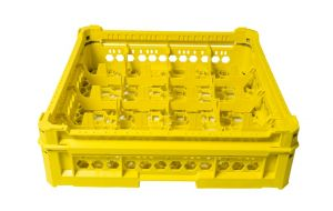 GEN-K24x4 CESTA CLASSICA 16 SCOMPARTI QUADRATI - Altezza bicchiere da 65mm a 120mm