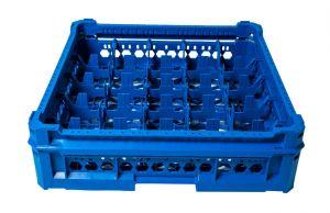 PANIER GEN-K25x5 CLASSIQUE 25 COMPARTIMENTS CARRÉS - Hauteur du verre de 65 mm à 120 mm