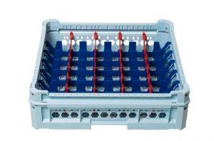 GEN-K25x7 PANIER CLASSIQUE 35 COMPARTIMENTS RECTANGULAIRES - Hauteur du verre de 65 mm à 120 mm