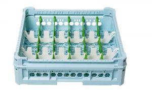 PANIER GEN-K33x6 CLASSIQUE 18 COMPARTIMENTS RECTANGULAIRES - Hauteur de tasse de 120 mm à 240 mm