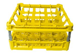 GEN-K34x4 CLASSIC BASKET 16 SQUARE COMPARTMENTS - Cup height from 120mm to 240mm
