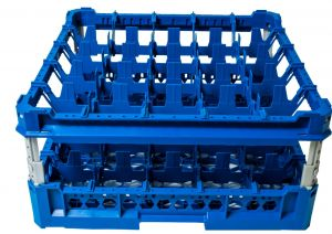 GEN-K35x5 CLASSIC BASKET 25 SQUARE COMPARTMENTS - Cup height from 120mm to 240mm