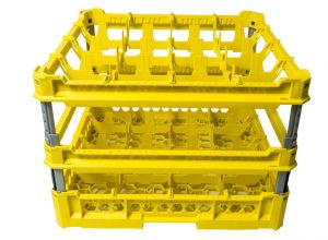 GEN-K44x4 CLASSIC BASKET 16 SQUARE COMPARTMENTS - Cup height from 240mm to 340mm
