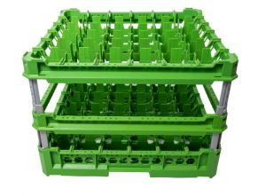 GEN-K46x6 CLASSIC BASKET 36 SQUARE COMPARTMENTS - Cup height from 240mm to 340mm