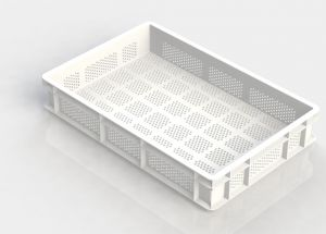 GEN-VAS010-FA Open perforated pasta tray 600x400 Height 100mm