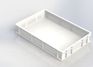 GEN-VAS010-FC Closed perforated pasta tray 600x400 Height 100mm
