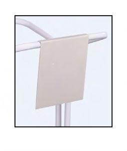 T789133 Neutral white metal signboard for bag holder