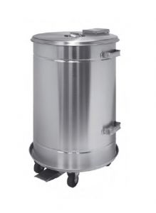 T792070 Mobile watertight container in AISI 304 stainless steel with pedal 70 liters