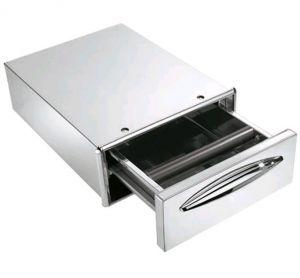 ICCBP40 Cassetto caffe' in inox profondità cassetto cm 45,6