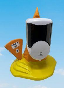 EG-IGI2 Inverted ice cream cone with automatic electronic liquid soap dispenser inserted