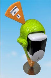 EG-IGI1 Ice cream cone with automatic electronic liquid soap dispenser inserted