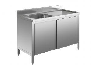 EU01701-14 lavatoio armadio ECO cm 140x70x85h  1 vasca e sg dx - porte scorrevoli