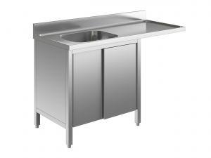 EU01901-14 lavatoio armadio per lavast. ECO cm 140x60x85h  1v e sg dx - porte scorrevoli
