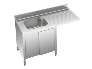 EU01951-14 lavatoio armadio per lavast. ECO cm 140x70x85h  1v e sg dx - porte scorrevoli