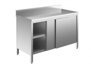 EU03201-20 tavolo armadio ECO cm 200x60x85h  piano alzatina - porte scorrevoli