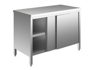 EU03300-12 tavolo armadio ECO cm 120x70x85h  piano liscio - porte scorrevoli