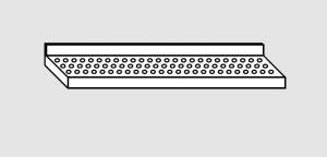 EU63801-16 ripiano a parete forato ECO cm 160x28x4h