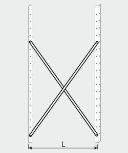 EU77009-09 crocera per scaffale ECO da cm 90