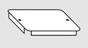 EU91010-04 Coperchio per vasca in acciaio inox dim. 45x45