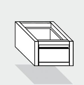 EUG2072-47 cassetto singolo ECO e40 cm 40x70x20hsotto tavolo guide inox semplici