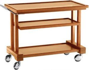 LP 800 Carrito de servicio de madera 3 pisos 81x55x82h