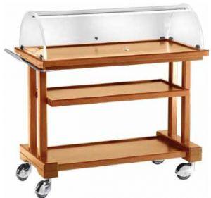 LPC 1050 Chariot service en bois pour dessert 3 rayons 115x55x108h