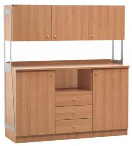TML 3214SSPN Muebles altos dobles 2 puertas 3 cajones 3 unidades de pared