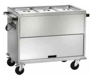 CT1766TD Carro Baño maría y armario 2xGN1/1 temperatura diferenciada 2x1/1GN