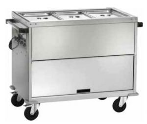 CT1771TD Thermal double boiler trolley with differentiated temperatures 3x1/1GN