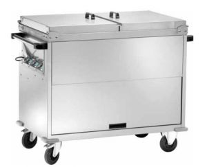 CT1770TD Chariot thermique bainmarie temperature differenciees couvercles 3x1/1GN
