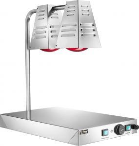 PCI4717 Plateau chauffant inox avec deux lampes à infrarouges 60x40h68h