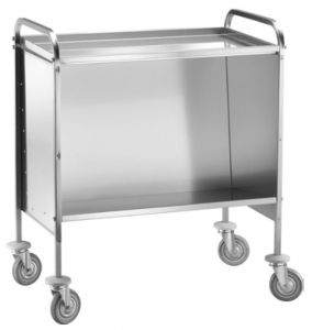 TCP 1441 Dish trolley Capacity 200 stacked plates Upper shelf