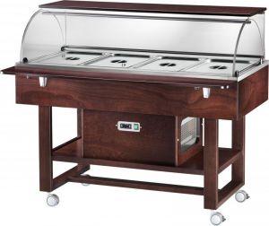ELR2826BTW Carro refrigerado madera (-5°+5°C) 4 1/1GN cupula/estante Wengé