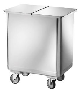 AV4680 Stainless steel Bin on castors internal separator