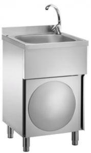 LC50MM Lave-mains inox  sur meuble