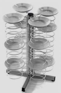 CA1436 Lunch counter dish holder 48 plates Ø18/23 Chromed grids